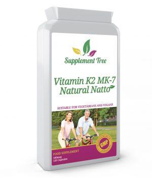 Vitamin K2 MK-7 Natural Natto 100mcg 120 Capsules