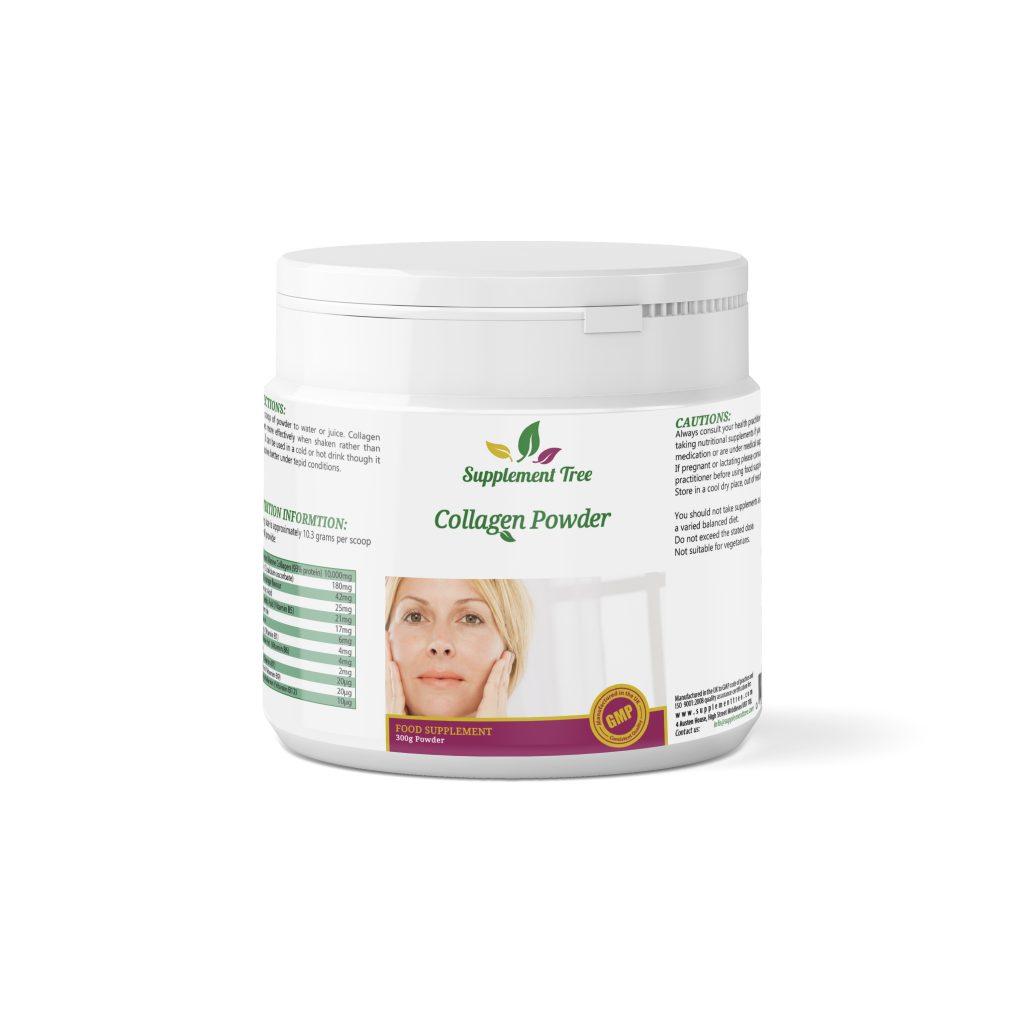 Collagen Powder 300g with Hyaluronic Acid & Essential Vitamins – Orange Flavour